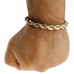"Gold Rope Chain Bracelet 8"" x 8MM"