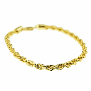 "Gold Rope Chain Bracelet 9"" x 5MM"