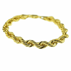 "Gold Rope Chain Bracelet 9"" x 8MM"