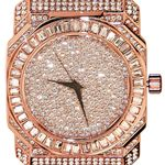 Rose Gold Bling Baguettes Watch