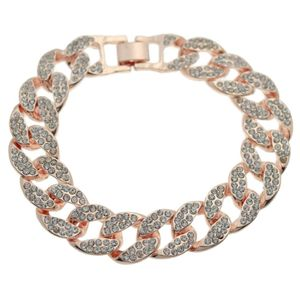 Full Stone Bracelet Rose Gold 8""