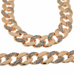 """30"""" Rose Gold Iced-Out Chain"""