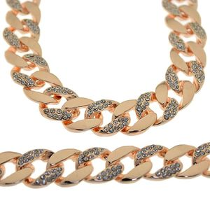 "30"" Rose Gold Bling Cuban Chain"