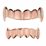 Rose Gold Vampire Full Fangs Set