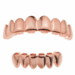 14K Rose Gold Plated 8/6 Grillz Set