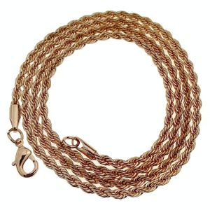 """Rose Gold Plated Rope Chain 24"""" x 3MM"""