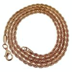 "Rose Gold Plated Rope Chain 24"" x 3MM"