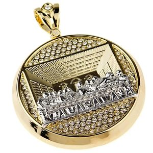 Last Supper Round Gold/Silver Charm
