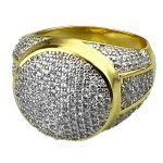 Gold Two Tone 19MM Round Dome Ring