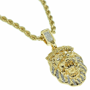 "Gold Lion 24"" Rope Chain Necklace"