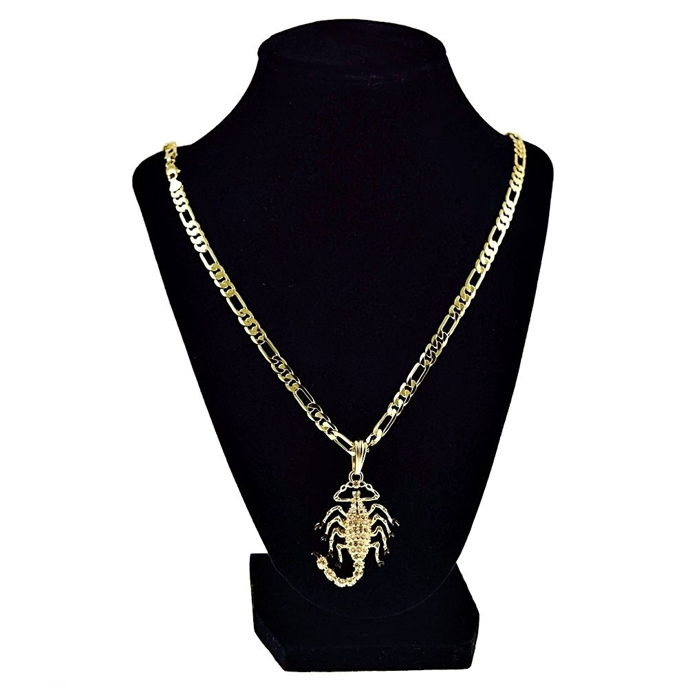 Gold Scorpion 24 Quot Figaro Chain