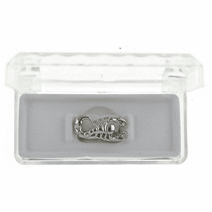 Silver Scorpion Top Teeth Grillz