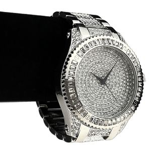 Baguette Micro Pave Silver Watch