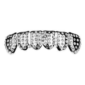 Silver Micro Pave Bottom Grillz