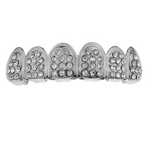 Silver Top Icy Tombstone Grillz