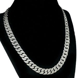 "Silver Diamond Dust Cut 20"" 10MM Cuban"