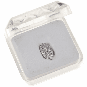 Silver CZ Bling Fang Top Tooth Cap