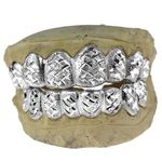 925 Silver Diamond-Cut Diamond Dust Custom Grillz