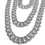 Silver Dust Bubble Cuban Chain 18-30""