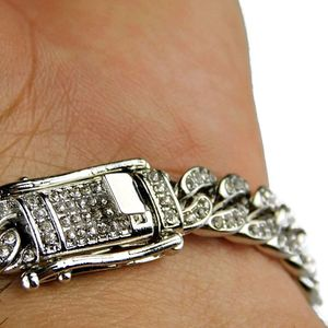 Silver Cuban Bling Bracelet 8MM x 8""