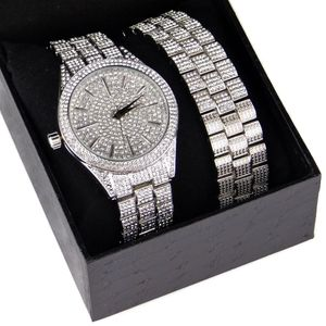 """Silver Tone """"Hour Marks"""" Watch Set"""