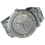 NY London Micro Pave Silver Watch