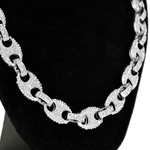 Silver Mariner Links Bling Choker 16""
