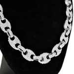 Silver Mariner Links Bling Chain 20""
