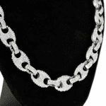 Silver Mariner Iced-Out Chain 16""