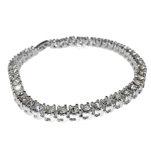 Silver One Row Tennis Bracelet 8.5""