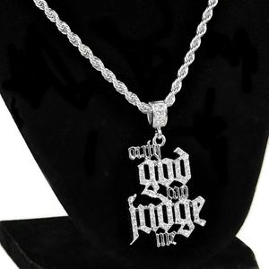 "Only God Can Judge Me 24"" Silver Chain"