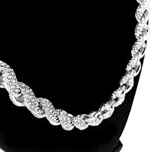 "Silver Iced Rope Chain 18"" x 10MM"