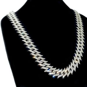 "Silver Spike Chain 18"" Inch X 25MM"