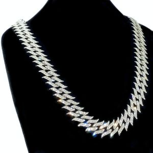 "Silver Spike Chain 30"" Inch X 25MM"