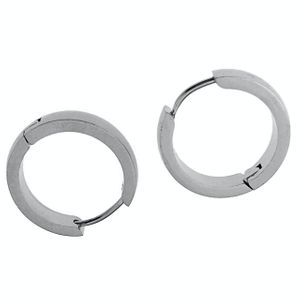 Silver Stainless Steel Hoop Earrings