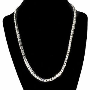 "One-Row Silver 20"" Tennis Chain"