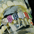 Silver CZ Rainbow Bottom Teeth Grillz