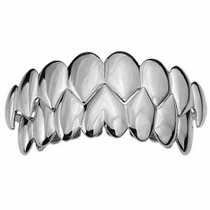Silver Shark Teeth Grillz Set