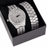 "Silver Tone ""Hour Marks"" Watch Set"