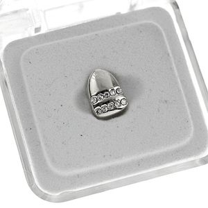 Silver 2 Row Bling Top Tooth Cap