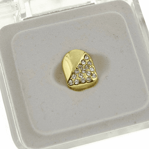 Gold Half-Stone Top Tooth Cap