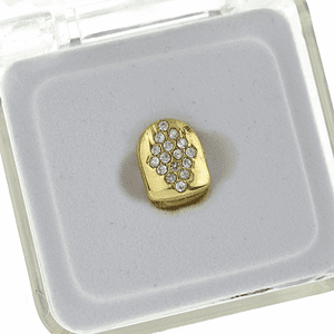 Gold Diamond Shape Single Top Tooth