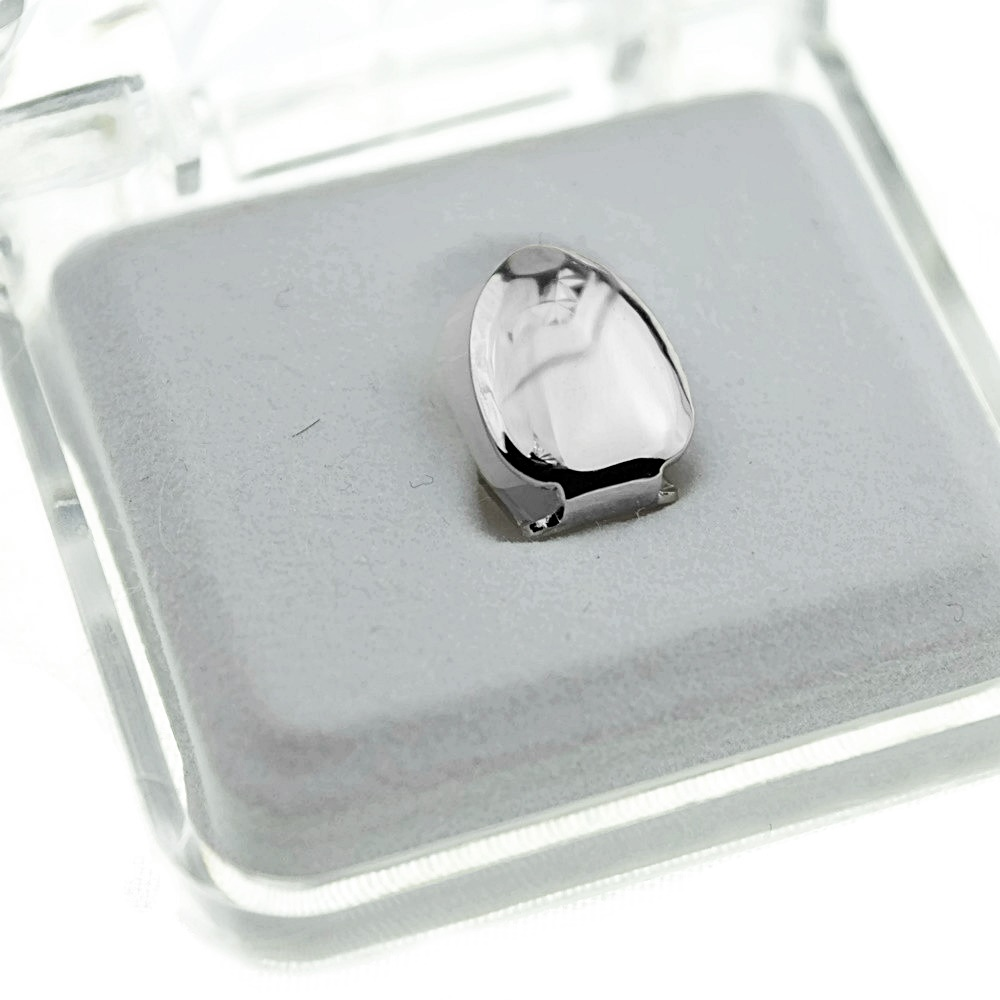 Silver Plain Single Top Tooth Cap