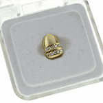 Gold 2 Row Single Top Tooth Cap