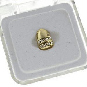 Gold 2 Row Single Tooth
