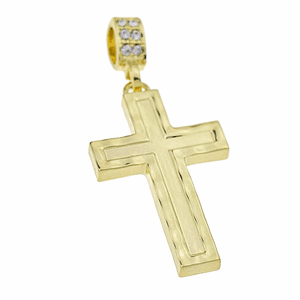 14k Gold Plated Cross Pendant