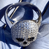 925 Silver Micro Pave Skull Ring