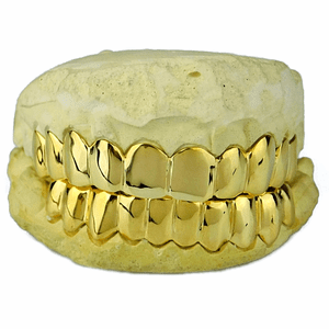 Real 10K Solid Gold Teeth Gold Tooth Custom Grillz