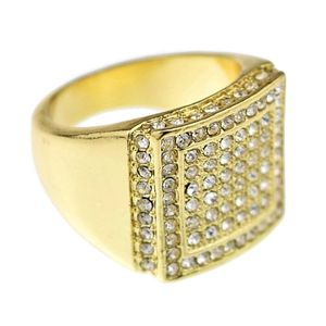 Gold Double Square Bling Ring