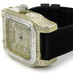 Gold Big Square Iced Watch